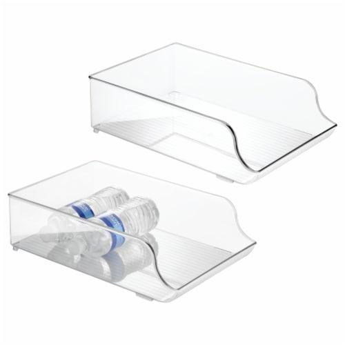 iDesign Fridge Water Bottle Holder - Transparent Perspective: front