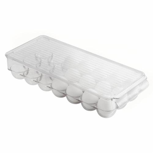 iDesign Fridge Binz Large Egg Holder - Clear Perspective: front