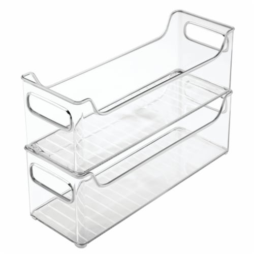 iDesign Fridge Organizer Bins - Clear Perspective: front