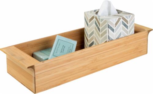 InterDesign Formbu Bamboo Vanity Organizer Tray - Brown Perspective: front