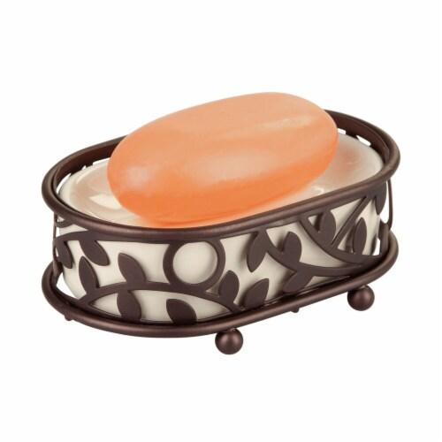 iDesign Vine Soap Saver Dish - Bronze/Vanilla Perspective: front