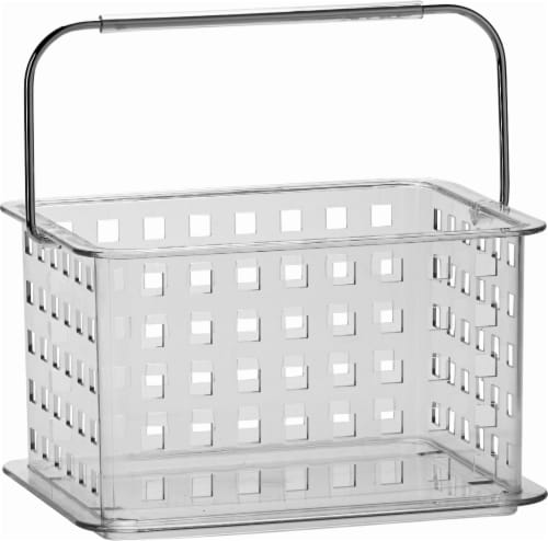 iDesign Zia Small Rectangular Storage Basket - Clear Perspective: front
