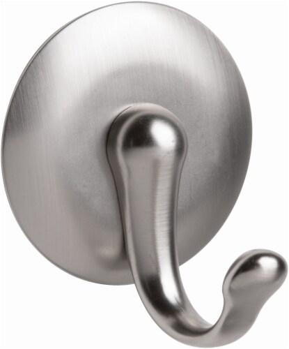 InterDesign York AFFIX Hook - Silver - L Perspective: front