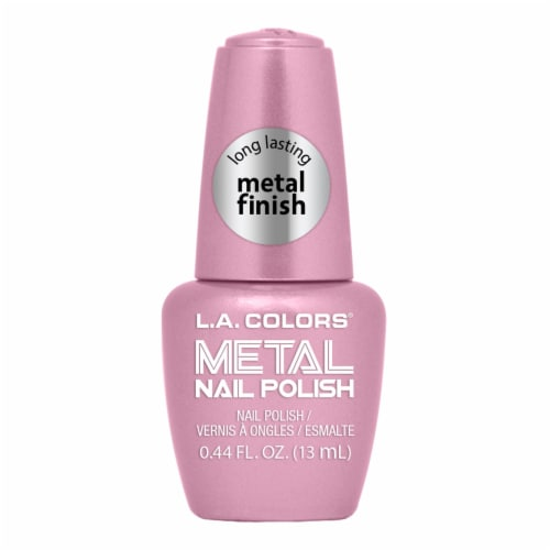 L.A. Colors Metal Nail Polish - Crystal Pink Perspective: front