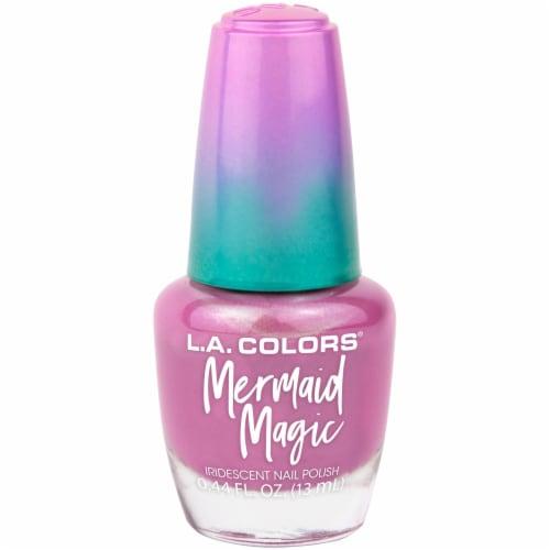 L.A. Colors Mermaid Magic Nail Pollish - Pink Pearl Perspective: front