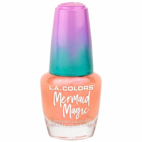 L.A. Colors Mermaid Magic Nail Polish - Coral Reef Perspective: front