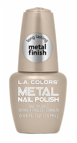 L.A. Colors Gold Coin Metal Nail Polish Perspective: front
