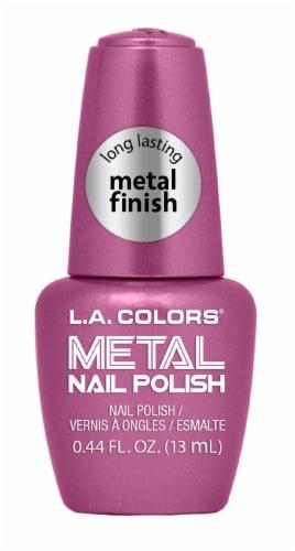 L.A. Colors Rose Mimosa Metal Nail Polish Perspective: front