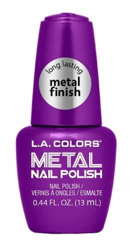 L.A. Colors Violet Vixen Metal Nail Polish Perspective: front