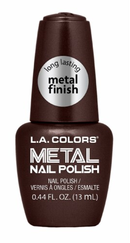 L.A. Colors Molten Metal Nail Polish Perspective: front