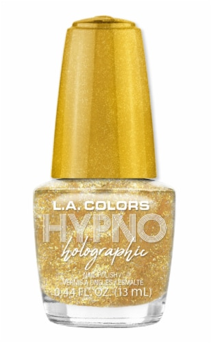 L.A. Colors Hypno Holographic Divine Nail Polish Perspective: front
