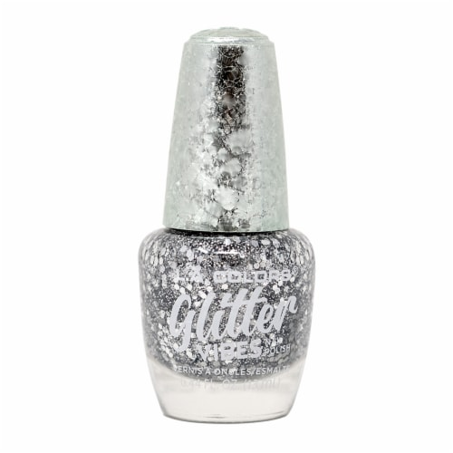 L.A. Colors Glitter Vibes Highkey Nail Polish Perspective: front