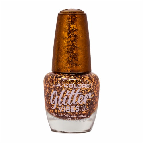 L.A. Colors Glitter Vibes Finesse Nail Polish Perspective: front