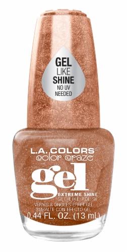 L.A. Colors Color Craze Birthday Suit Gel Shine Nail Polish Perspective: front