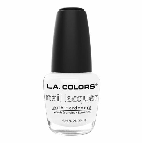 L.A. Colors French White Nail Lacquer Perspective: front