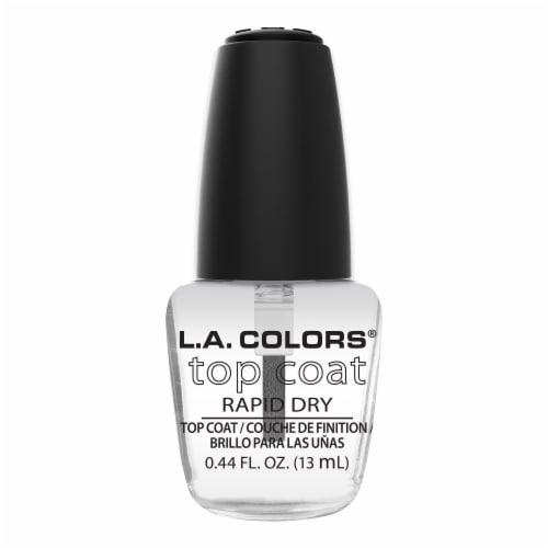 L.A. Colors Top Coat Nail Polish Perspective: front