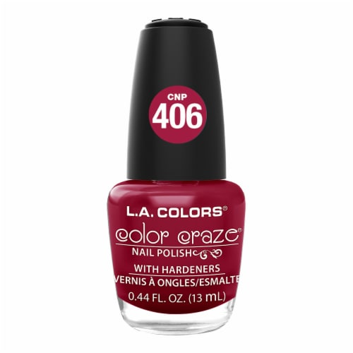 L.A. Colors Color Craze Hot Blooded Nail Polish Perspective: front