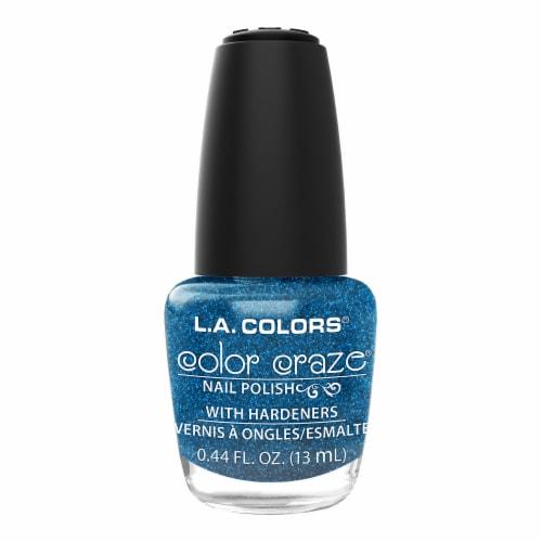 L.A. Colors Color Craze Aqua Crystal Nail Polish Perspective: front