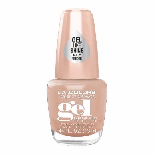 L.A. Colors Gel Shine Polish - Vanilla Latte Perspective: front