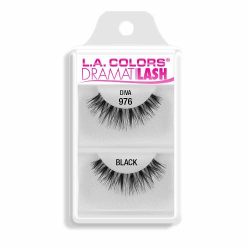 L.A. Colors DramatiLash 976 Diva Black Lashes Perspective: front