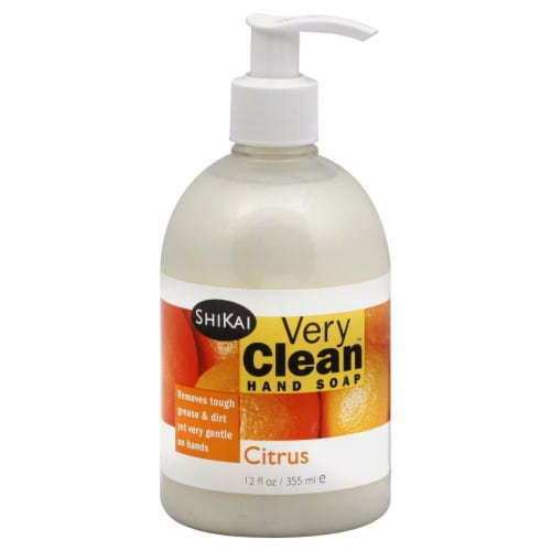 ShiKai Very Clean Citrus Liquid Hand Soap Perspective: front