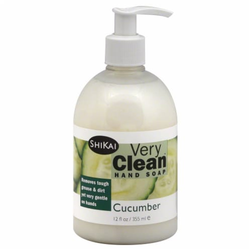 ShiKai Very Clean Cucumber Liquid Hand Soap Perspective: front