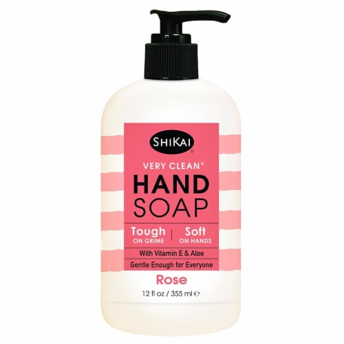 ShiKai Very Clean Rose Hand Soap Perspective: front
