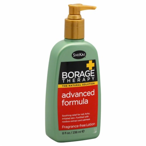 Shikai Borage Therapy Advanced Formula Fragrance Free Lotion Perspective: front