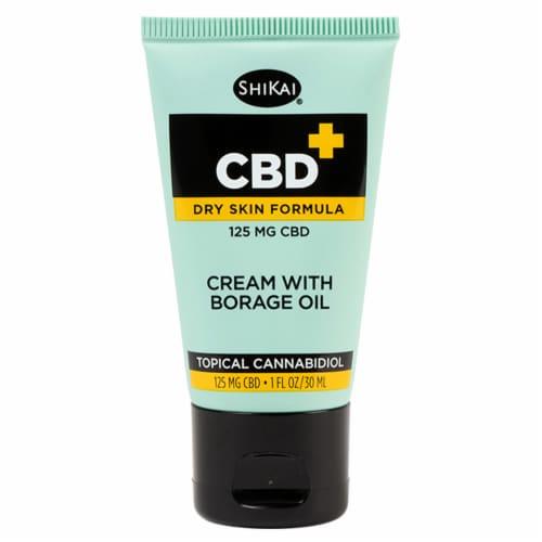 Shikai® CBD+ Dry Skin Formula Cream With Borage Oil Perspective: front