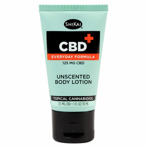 ShiKai Tropical Cannabidiol Unscented CBD Body Lotion 125mg Perspective: front