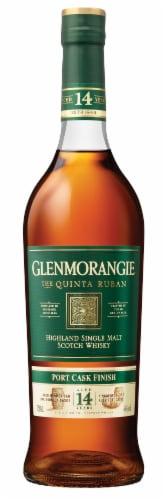 Glenmorangie Quinta Ruban Port Cask Finish 14 Years Old Single Malt Scotch Whisky Perspective: front