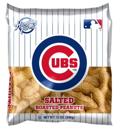 Hampton Farms Chicago Cubs Salted Roasted Peanuts Perspective: front