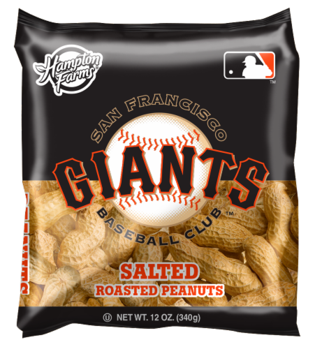 Hampton Farms San Francisco Giants Salted Roasted Peanuts Perspective: front