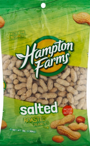 Hampton Farms Salted & Roasted Peanuts Perspective: front