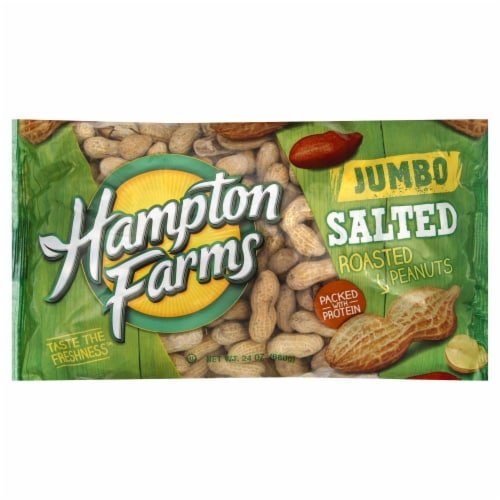 Hampton Farms Peanuts Peanuts Salted in Shell Perspective: front