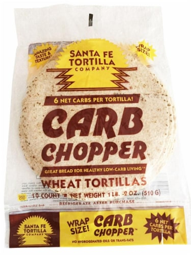 Santa Fe Low Carb Wheat Tortillas Perspective: front
