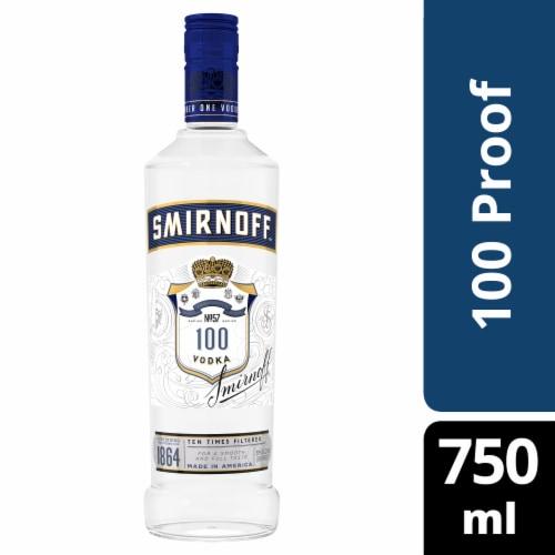 Smirnoff Blue No. 57 100 Proof Vodka Perspective: front