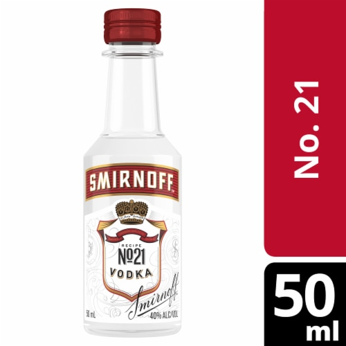 Smirnoff Red No. 21 Vodka Perspective: front