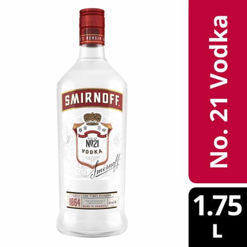 Smirnoff Red No. 21 Vodka Perspective: front