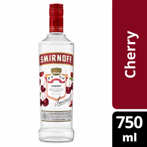 Smirnoff Cherry Vodka Perspective: front