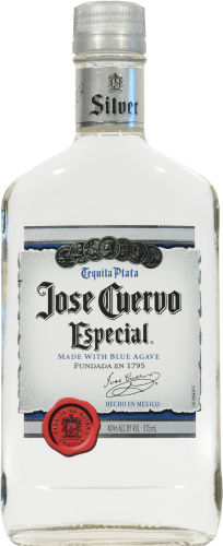 Jose Cuervo Silver Especial Tequila Perspective: front