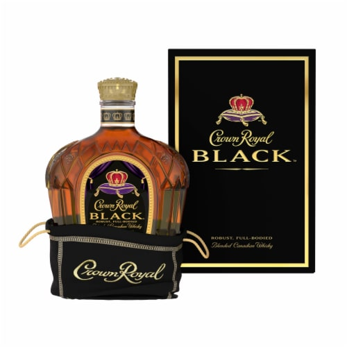 Crown Royal Black Blended Canadian Whisky Perspective: front