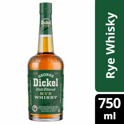 George Dickel Small Batch Rye Whiskey Perspective: front