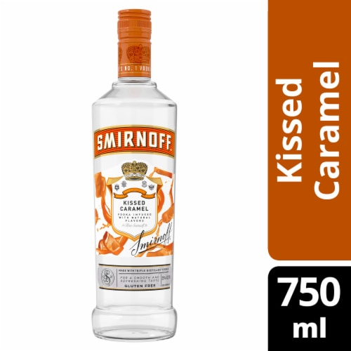 Smirnoff Kissed Caramel Vodka Perspective: front