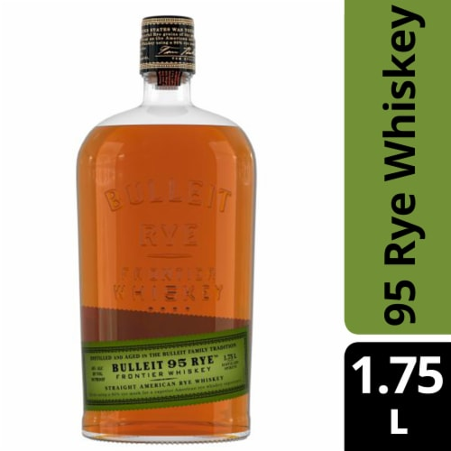 Bulleit 95 Rye Small Batch Straight American Rye Whiskey Perspective: front