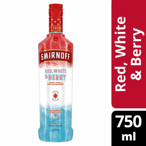 Smirnoff Limited Edition Red White & Berry Vodka Perspective: front