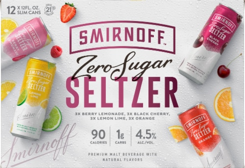 Smirnoff Spiked Sparkling Seltzer Variety Pack Perspective: front