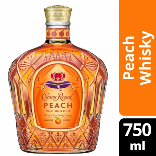 Crown Royal Limited Edition Peach Flavored Whisky Perspective: front