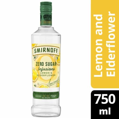 Smirnoff Zero Sugar Infusions Lemon & Elderberry Vodka Perspective: front