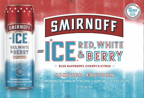 Smirnoff ICE Red White & Berry Spiked Seltzer Perspective: front